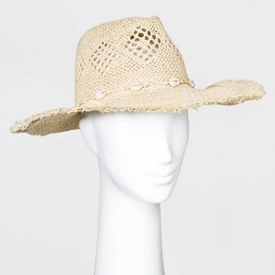 Women's Straw Rancher Hats - Universal Thread™ Natural One Size