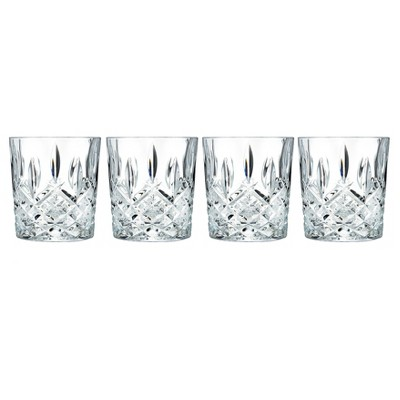 Marquis by Waterford Markham Crystal Double Old-Fashioned Glass 11oz - Set of 4