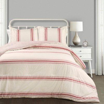 Farmhouse Stripe Comforter Set - Lush Décor