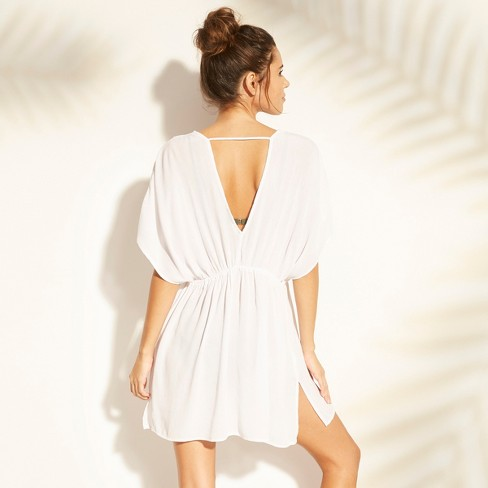 528e49019f Women's Lace Trim Tie Front Cover Up - Cover 2 Cover White S : Target