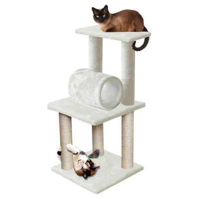 Paws & Pals Cat Scratch Tree Condo Furniture 33  -<br> White