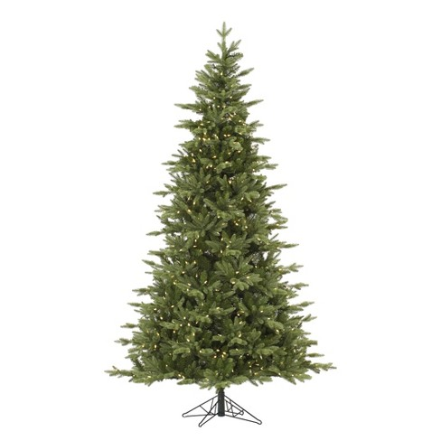 9ft pre lit led artificial christmas tree full balsam fir white lights