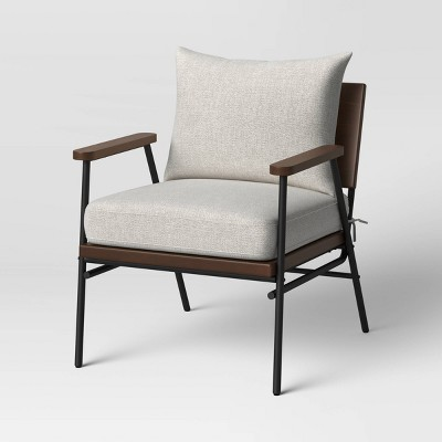Shalimar Upholstered Chair with Metal and Wood Cream - Project 62™