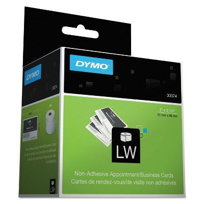 DYMO LabelWriter Business/Appointment Cards 2 x 3 1/2 White 300 Labels/Roll 30374