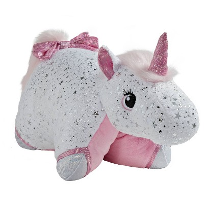 Glittery White Unicorn Plush - Pillow Pets