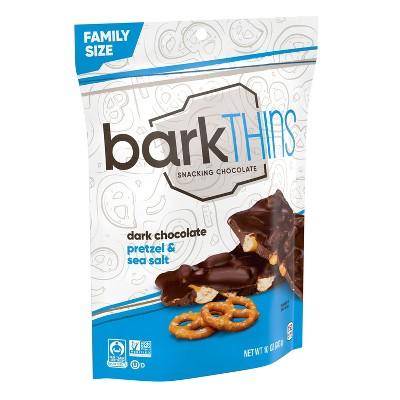 barkTHINS Sea Salt Dark Chocolate Pretzels - 10oz