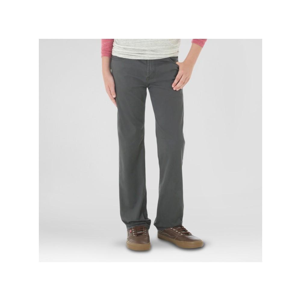 Wrangler Boys' Fashion Pants Mid Gray 7