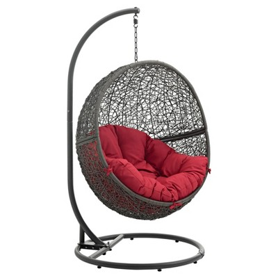 Beau Hide Outdoor Patio Swing Chair   Modway