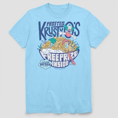 Men's FOX Frosted Krusty O's Short Sleeve Graphic Crewneck T-Shirt - Light Blue