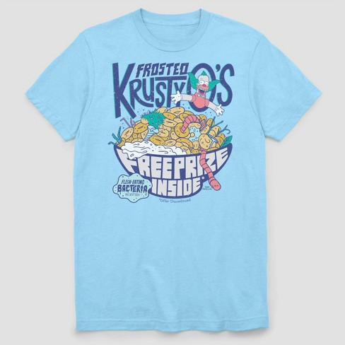 Men's FOX Frosted Krusty O's Short Sleeve Graphic Crewneck T-Shirt - Light Blue - image 1 of 2