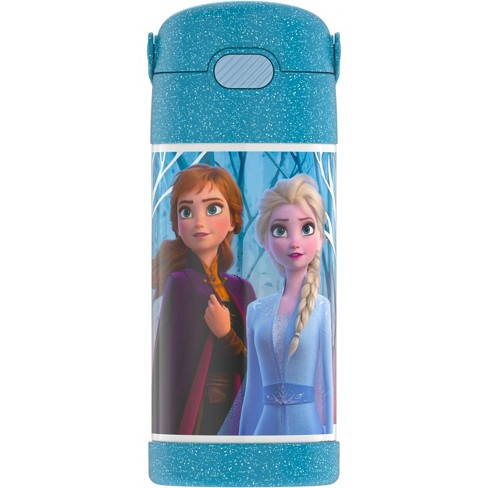 Thermos Frozen 2 12oz FUNtainer Water Bottle with Bail Handle - Blue Glitter - image 1 of 4