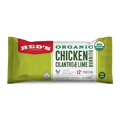 Red's Organic Chicken, Cilantro & Lime Frozen Burrito - 4.5oz
