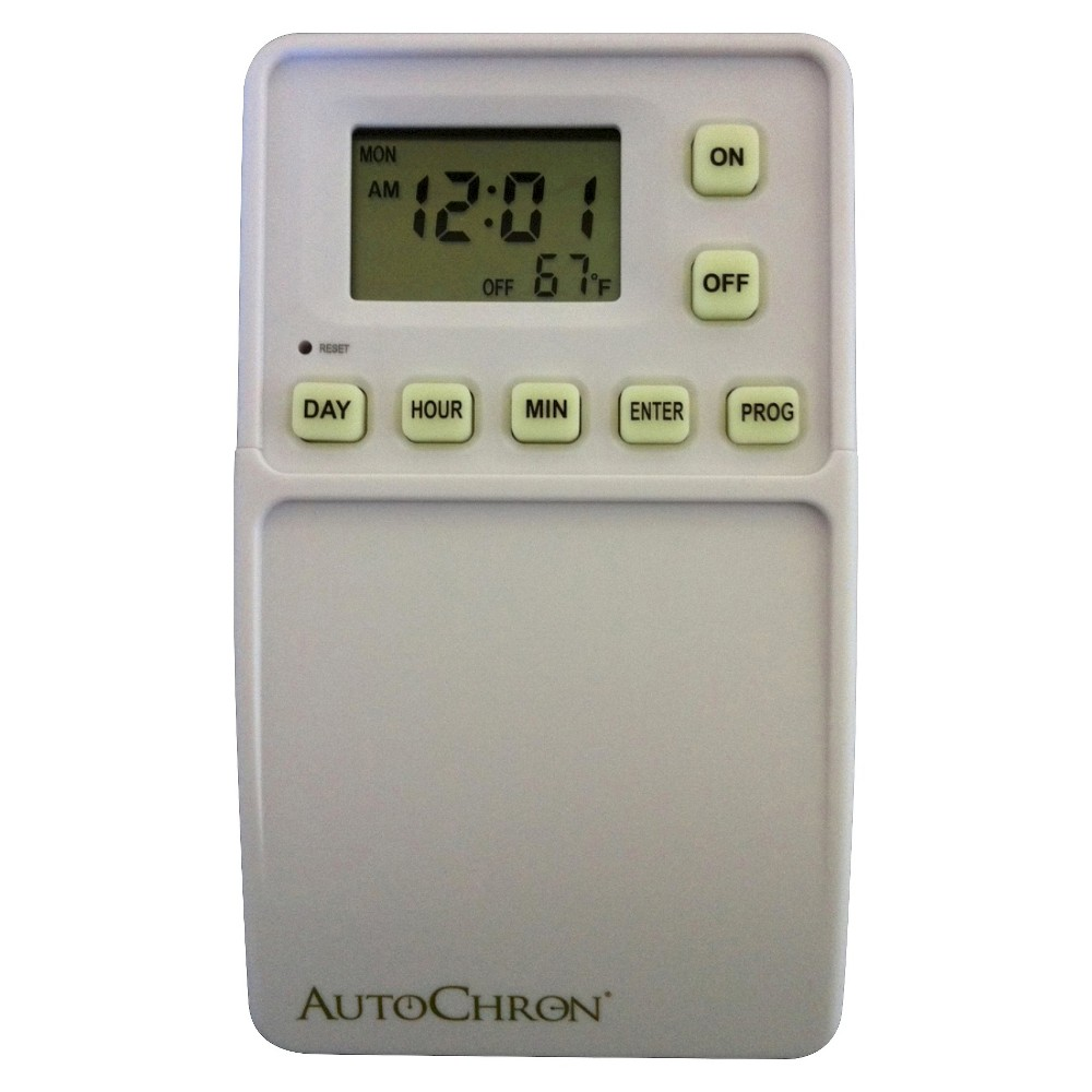 AutoChron White Automatic Wall Switch Timer
