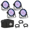 American DJ Mega Flat Pak Plus with UV LED Set + Chauvet Obey 6 DMX Controller - image 2 of 4