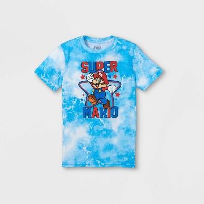 Boys' Super Mario Short Sleeve Graphic T-Shirt - Blue