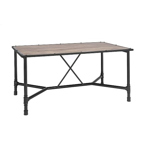 Caitlin Dining Table - Rustic Oak and Black - Acme - image 1 of 2