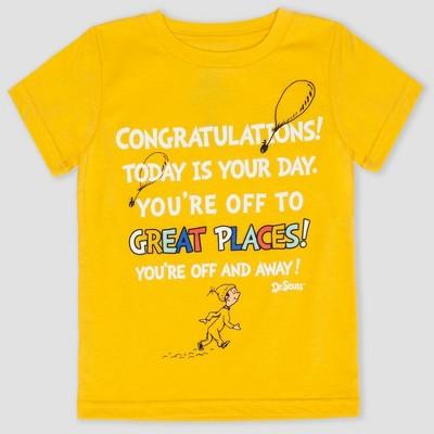 Toddler Boys' Dr. Seuss Short Sleeve T-Shirt - Yellow 12M