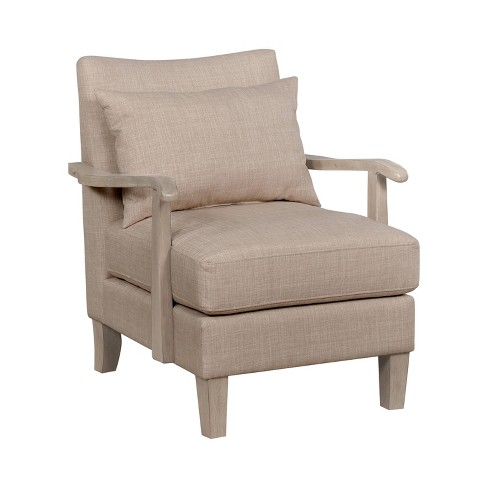 Forrester Wood Arm Accent Chair, Accent Chairs With Wooden Arms