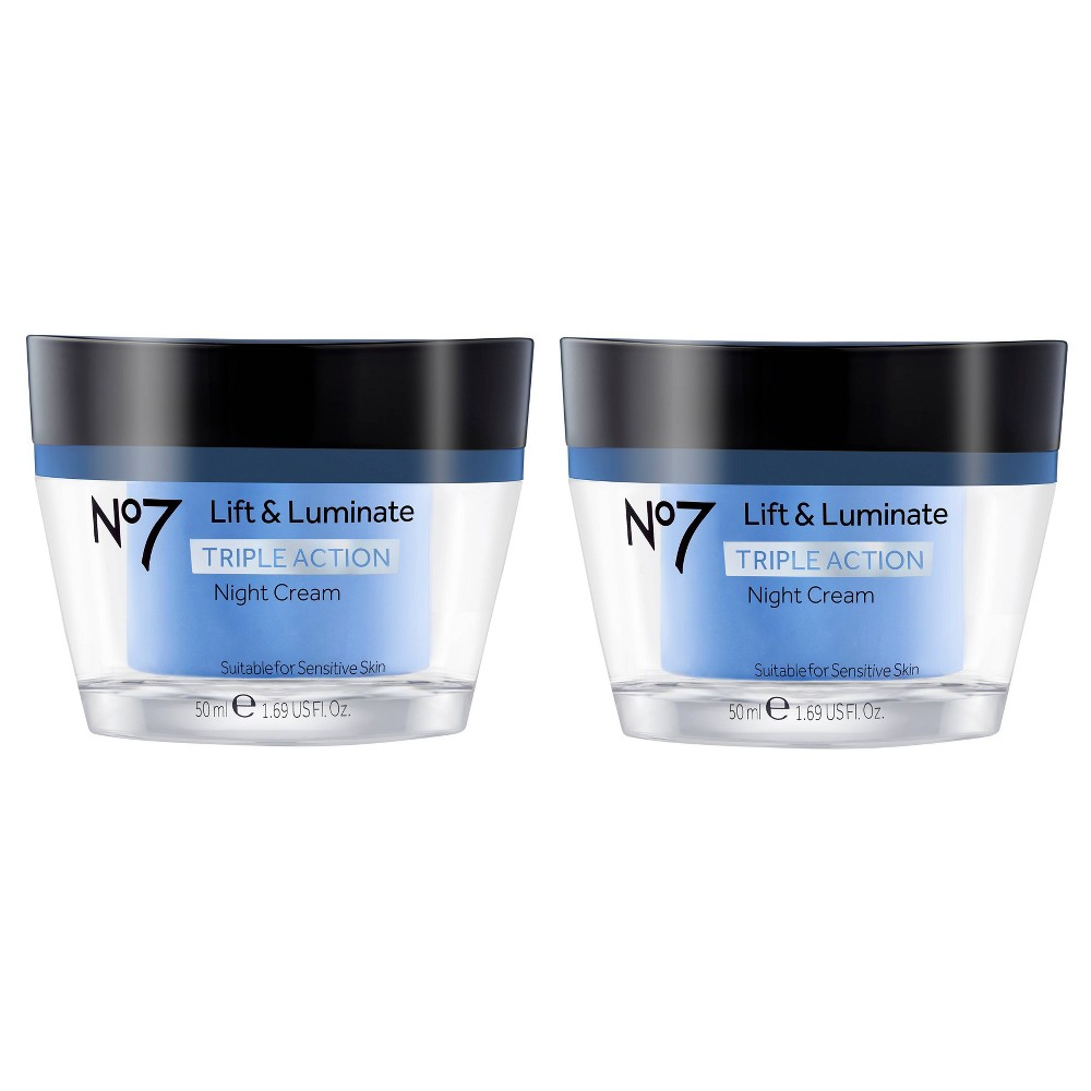 No7 Lift & Luminate Triple Action Night Cream - 1.69oz - 2ct