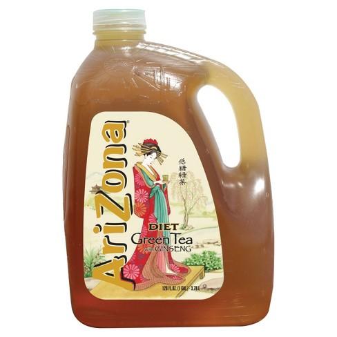 AriZona Diet Green Tea with Ginseng - 128 fl oz Jug - image 1 of 4