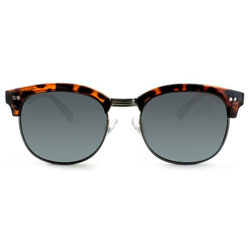 Men's Clubmaster Sunglasses with Smoke Lenses - Goodfellow & Co™ Brown - image 1 of 3
