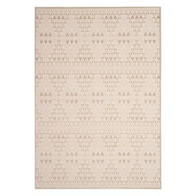 "5'1""x7'6"" Geometric Design Loomed Area Rug Light Beige/Cream - Safavieh"