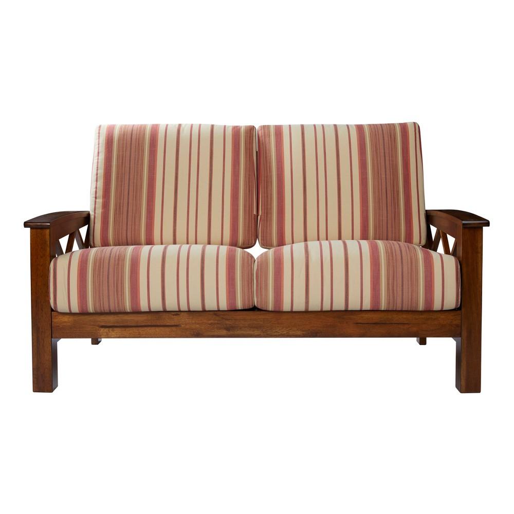 Groovy Riverwood X Design Loveseat Red Handy Living Red Machost Co Dining Chair Design Ideas Machostcouk