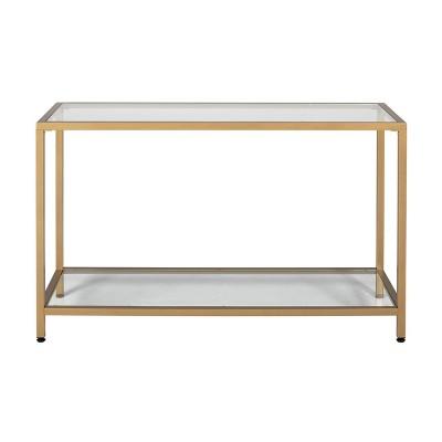 "Camber Modern Glass Console Table 47"" - Studio Designs"