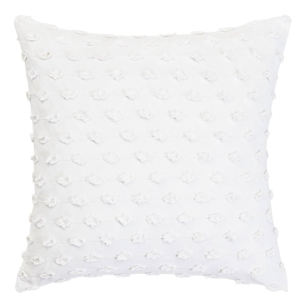 Trina Turk Basic Fringe Throw Pillow White