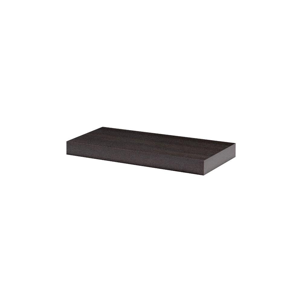 24 x 10 x 2 Big Boy Board Wall Shelf Espresso - Dolle Shelving Price