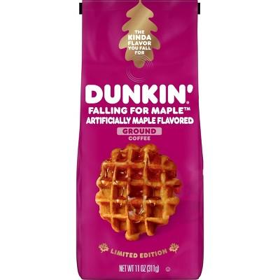 Dunkin Falling for Maple New Seasonal Medium Roast Coffee - 11oz