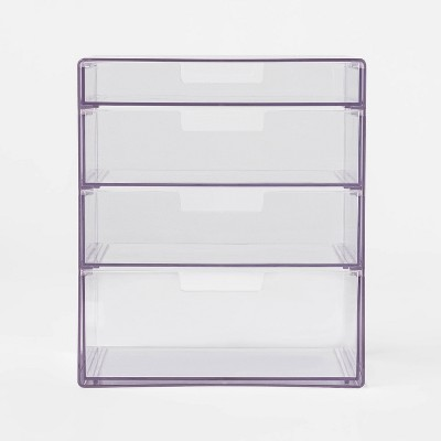 4 Drawer Stackable Countertop Organizer Clear - Made By Design™