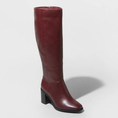 Women's Joy Tall Block Heeled Boots - A New Day™