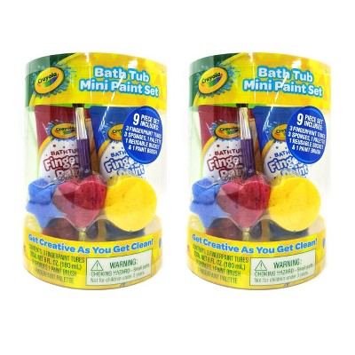 Crayola Multipack of Mini-Bath Paint Set - Trial Size - 2ct