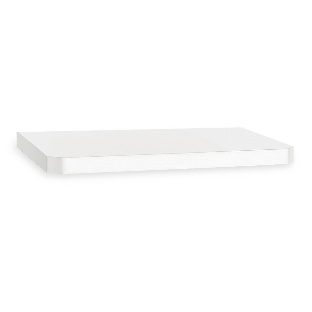 "Image of ""24"""" Eco Friendly Decorative Wall Shelf White - Way Basics"""