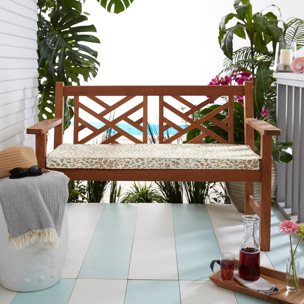 """Best Sunbrella 60""""x18""""x2"""" Indoor/Outdoor Corded Bench Cushion"""