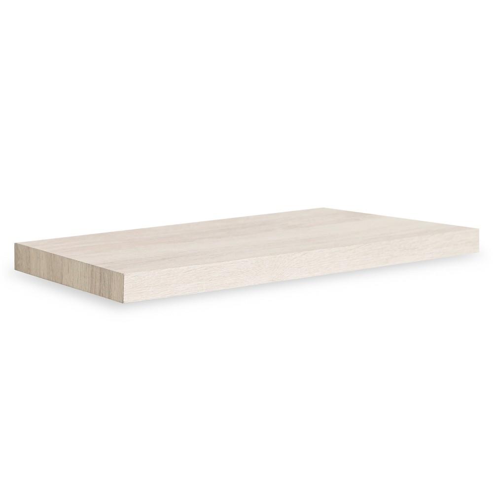 Antigua 24 Eco Friendly Soft Grain Decorative Wall Shelf White Ash - Way Basics