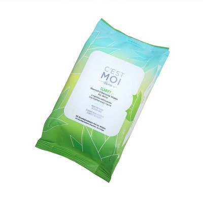 C'est Moi Clarify Blemish Cleansing Wipes For Acne - 30ct