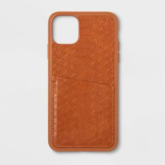 heyday™ Apple iPhone 11 Pro Max Case with Pockets - Tan Crocodile