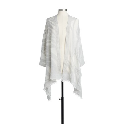 DEMDACO Butterfly Burnout Scarf - Gray