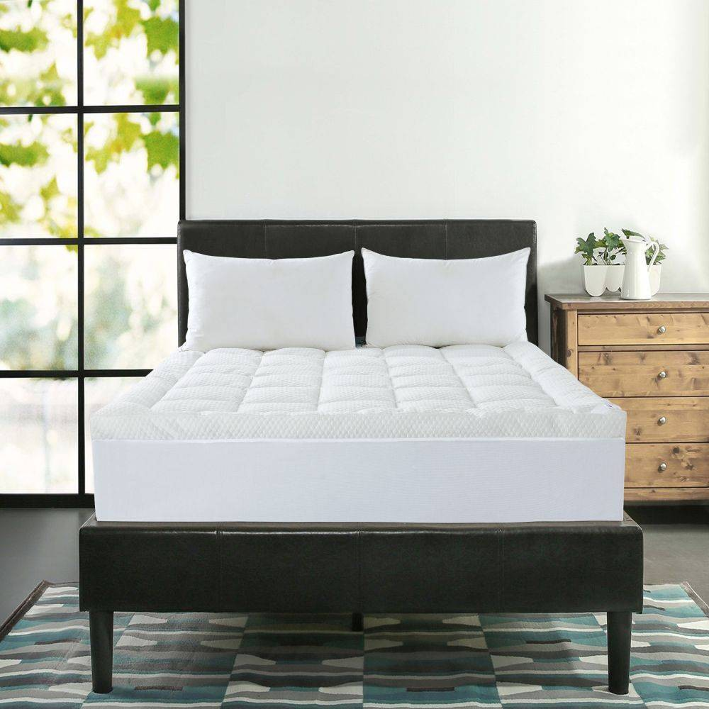 Image of Queen Cool Knit Mattress Topper White - St. James Home