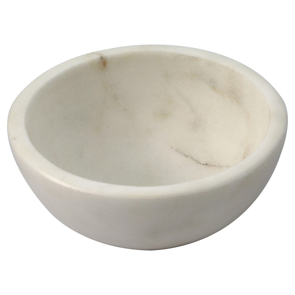 Image of 4oz Marble Dip Bowl White - Thirstystone