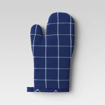Yarn Dyed Woven Oven Mitt Blue - Room Essentials™