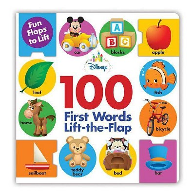 Disney 100 First Words Lift-the-flap - (Hardcover)