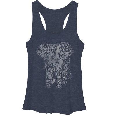 Women's Lost Gods Elephant Print Racerback Tank Top