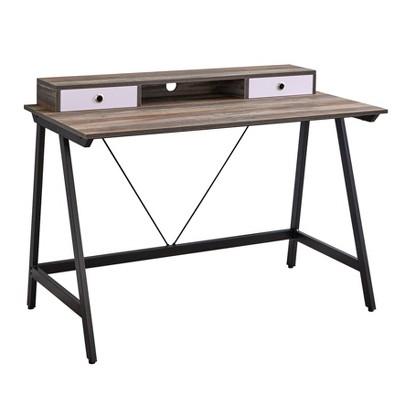 Tucker Desk Black/Driftwood - Buylateral