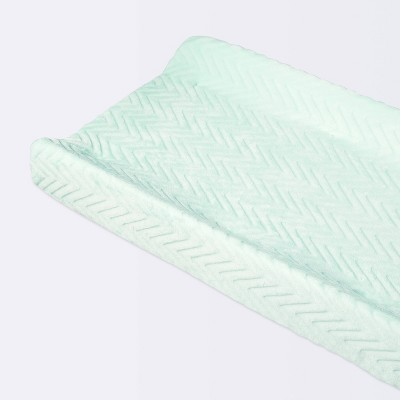 Plush Changing Pad Cover Chevron - Cloud Island™ Mint