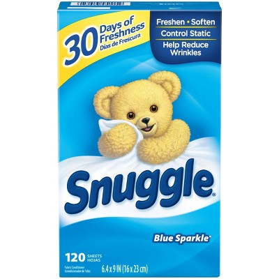 Snuggle Blue Sparkle Fresh Scent Dryer Sheets - 120ct
