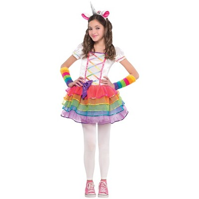 Kids' Rainbow Unicorn Halloween Costume