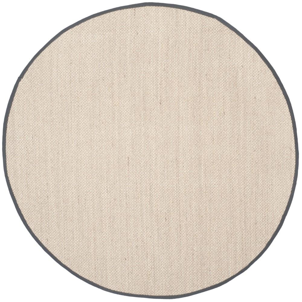 10' Solid Loomed Round Area Rug Marble/Dark Gray - Safavieh